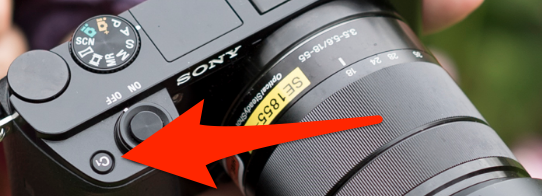 The C1 button on a Sony A6000
