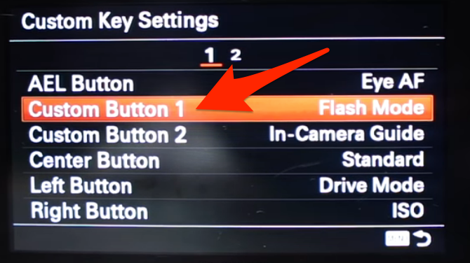 Choosing a button for your Clear Image Zoom function on a Sony A6000.