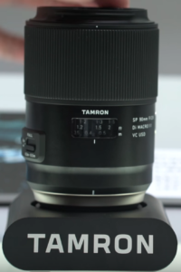 The Tamron AF 90mm showing the various manual controls on the lens.
