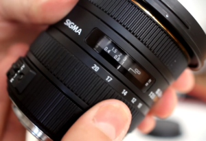 The Sigma 10-20mm lens zoom and focus rings.