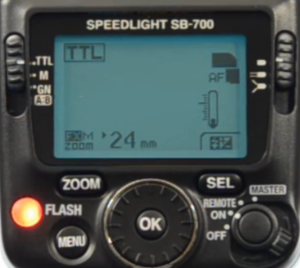 The Nikon SB-700 AF control system and user interface.