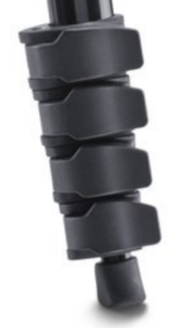 The Manfrotto Compact Action Tripod leg locking system.