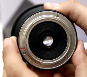 The lens mount for the Rokinon 8mm fisheye lens that fits perfectly on your Sony A6000.