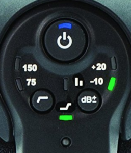 The control system for the Rode VideoMic Pro+ that you are able to use as an external microphone for your Nikon d3200.