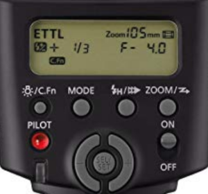 The interface and control systems for the Canon 430EX.