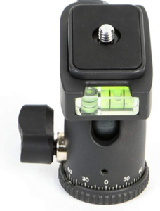 A close up of the head of the Dolica la600 tripod.